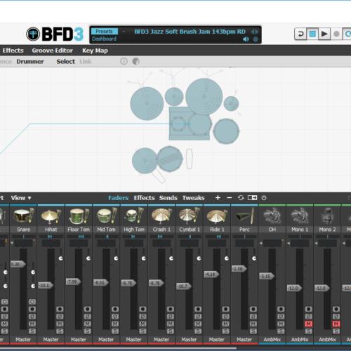 BFD3のドラムパーツやプリセットが少ない(全て表示されない)現象とその対策